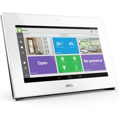 The screen on the Smart Home Tablet makes it a connected home gateway like no other. Allowing for easy pairing of your objects and configuring of your smart home. It includes an onboard temperature an