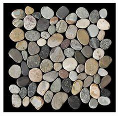 1 Kiesel Matte K 567 Kieselstein Mosaik Auf Netz Earthy Cut Fliesen Lager