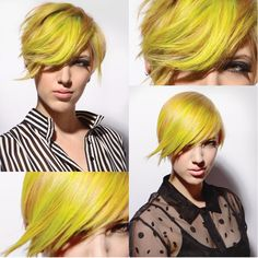 Neon yellow hair