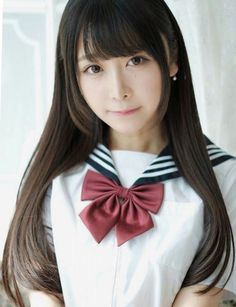 Japanese School Uniform Girl, School Girl Japan, Japan Girl, Asian Cute, Cute Asian Girls, Cute Girls, Beautiful Japanese Girl, Beautiful Asian Girls, Sailor Fashion