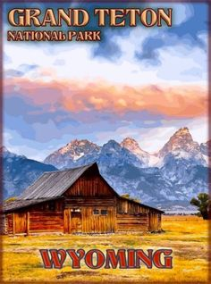 Grand-Teton-National-Park-Wyoming-United-States-Travel-Advertisement-Poster