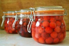 Cherry jam jars Are You Happy, Jars, Cherry, Make It Yourself, Colour, Color, Pots, Jar, Prunus