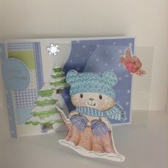 Acetate front Patchwork Pals Hunky Dory, Christmas Cards, Xmas, Card Ideas, Dinosaur Stuffed Animal, Scrappy Quilts, Xmas Greeting Cards, Yule, Navidad