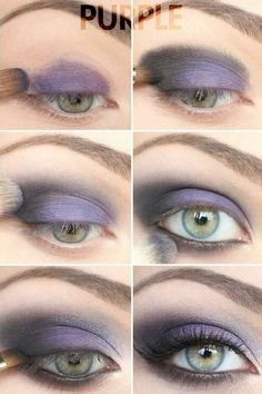 how to: Purple eye makeup for green eyes