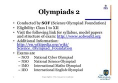 Image result for list of olympiad exams in india