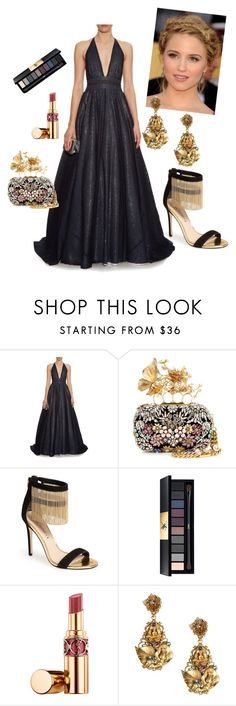 """""""Gala"""" by unemerefiere ❤ liked on Polyvore featuring Sophie Theallet, Alexander McQueen, Via Spiga, Yves Saint Laurent, Dolce&Gabbana, women's clothing, women, female, woman and misses"""
