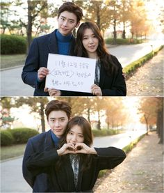 "Co-Stars Lee Jong Suk and Park Shin Hye Ask Fans to Tune in to ""Pinocchio"""