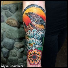 mykechambers:  Cactus wren on a saguaro blossom.  Myke Chambers