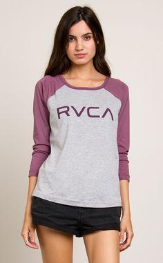 Big RVCA Raglan T-Shirt | RVCA