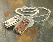 Men's Necklace. $65.00, via Etsy.