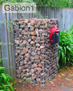 Low Cost Gabion Finished gabion letterbox Cheaper than block stone gabion walls are easy to build  http://www.gabion1.com.au
