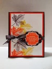 Peanuts and Peppers Papercrafting: Try It Thursday - Stampin' Up! Best of Autumn Card and Happy Thanksgiving!