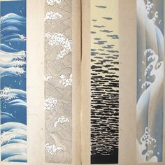 Large Japanese Woodblock Print Book of Water 60 Pattern