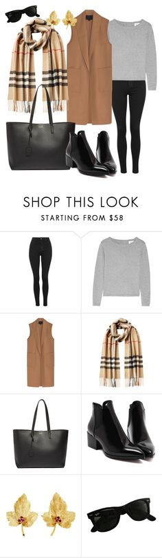 """Today"" by turkishlove ❤ liked on Polyvore featuring Topshop, Alexander Wang, Burberry, Yves Saint Laurent, Tiffany & Co. and Ray-Ban"