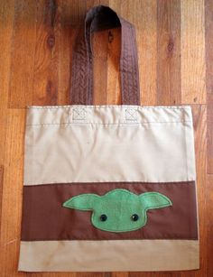 Dollar Store Crafts » Blog Archive » Make a Reusable Grocery Tote – Yoda Style!