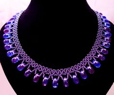 Free pattern for necklace Galaxy Click on link to get pattern - http://beadsmagic.com/?p=6529