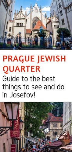 Looking for the best things to do in Prague? Then the Prague Jewish Quarter should be high on your list. This guide will let you in on the best things to do and see in Josefov in Prague Czech Republic! #prague #czechrepublic #jewishquarter #josefov #europe #travel #europeantravel