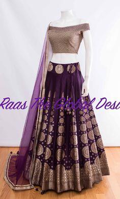 CHOLI-Raas The Global Desi-[wedding_lehengas]-[indian_dresses]-[gown_dress]-[indian_clothes]-[chaniya_cholis] Indian Lehenga, Lehenga Gown, Lehnga Dress, Party Wear Lehenga, Indian Gowns, Indian Attire, Indian Outfits, Indian Clothes, Bridal Lehenga