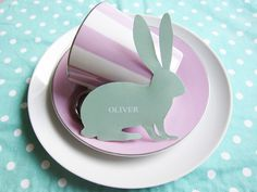 Cute Bunny place cards for Easter and or spring.