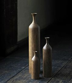 wooden vases / analogue life