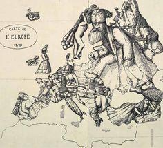 Comic Map of Europe, 1870