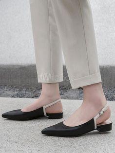 Femme Bout Pointu Rivets Bottines Sangles Patent Sandales Chaussures Plates Pompe Chaussures clous