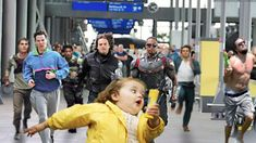 Image result for falcon and bucky running in airport