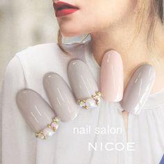 イベントネイル定額コース♡ 新規のお客様4500円税込です♡ #パール #ビジュー #オフィス #デート #グレー #グレージュ #ピンク #バレンタイン #ブライダル #ジェルネイル #ロング #ワンカラー #チップ #nicoe✧ニコエ #ネイルブック Nail Arts, Pretty Nails, My Nails, Finger, Nail Designs, Nail Polish, Tattoos, Hair Styles, Makeup