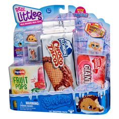 Shopkins Real Littles Shopper Pack Choco Taco, Ice Cream Tubs, Slush Puppy, Girls Furniture, Little Live Pets, Moose Toys, Cool Toys For Girls, Doll Food, Barbie Toys