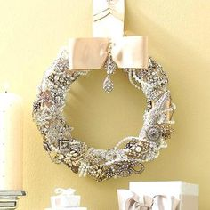 vintage jewelry wreath  - 20 Beautiful Holiday Wreaths | Midwest Living