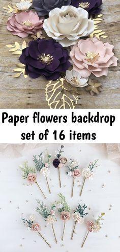 Paper Flower Backdrop, Paper Flowers, Backdrops, Floral Wreath, Blush, Wreaths, Diy, Art, Floral Crown
