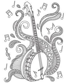 Musical Coloring Pages for Adults Luxury 313 Best Images About Music Coloring Pages for Adults On Quote Coloring Pages, Printable Adult Coloring Pages, Colouring Pics, Coloring Sheets, Coloring Books, Music Drawings, Art Drawings For Kids, Drawing For Kids, Music Notes Art
