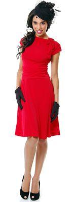 BEST SELLER! Folter Red Bridget Bombshell Pin-Up Dress