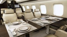 Inside the Most Luxurious Private Jets and What They Cost  -  February 16, 2017:      Bombardier Global 7000:    The Bombardier Global 7000 is still in development, and it's expected to wow jet enthusiasts when it hits the market during the second half  of 2018. Accommodating 17 passengers in the standard configuration, this private jet will offer four large, distinct living spaces.