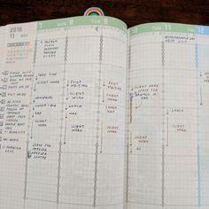 Planning my week in the Jibun Techo weekly columns