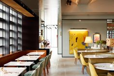 Bill Granger's latest Tokyo restaurant has been designed to reflect the luxurious spirit of the thriving Ginza neighbourhood. Tokyo Restaurant, Restaurant Design, Rustic Furniture, Modern Furniture, Lunch Room, Lounge, Fine Dining, Colorful Interiors, Building A House