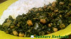 Grünkohlcurry mit Kichererbsen auf indische Art - #Rezept