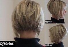 15 Angled Bob Hairstyles - Angled Bob Back View Hairstyles Angled Bob Hairstyles, Trendy Haircuts, Haircuts For Long Hair, Bob Haircuts, Medium Hairstyles, Medium Hair Cuts, Short Hair Cuts, Short Hair Styles, Haircut Medium