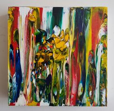 Melting Line Gallery Canvas Acrylic Abstract Painting by rostudios