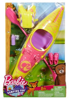 Barbie Camping Fun Kayak & Accessories from Mattel Barbie Dream, Barbie Doll Set, Barbie Sets, Doll Clothes Barbie, Barbie Doll House, Barbie I, Barbie Stuff, Barbie And Her Sisters, Barbie Playsets