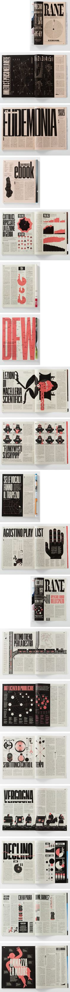 Editorial Design | Magazine Design | Like the limited colours and bold design