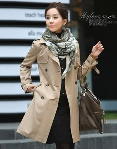 Women's Classic All-Weather Slim Fit Trench Coat | Winter Clothes