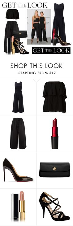 """""""Gigi and Bella"""" by hannahnewtonxx ❤ liked on Polyvore featuring Rebecca Minkoff, Alice + Olivia, Edit, MAC Cosmetics, Christian Louboutin, Tory Burch, Chanel, Lanvin, GetTheLook and celebritysiblings"""