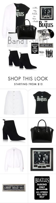 """""""Band t-shirt:the Beatles"""" by martacg2014 ❤ liked on Polyvore featuring New Look, Stuart Weitzman, Givenchy, T By Alexander Wang, Frontgate, Lucky Brand, bandtshirt and bandtee"""