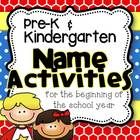 Included are 13 fun and engaging name activities to use with your class.  They would be great throughout Pre-K and for the beginning of the year Ki...
