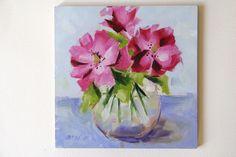 Art Nature, Artist Painting, Flower Art, Watercolour, Glass Vase, Original Paintings, Oil, The Originals, Frame