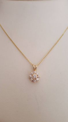 Jewelry OFF! Gorgeous Diamond Flower Necklace Polished Link Chain in Yellow Gold Jewelry Design Earrings, Gold Earrings Designs, Gold Jewellery Design, Pendant Jewelry, Gold Jewelry Simple, Stylish Jewelry, Fashion Jewelry, Fashion Necklace, Gold Chain Design