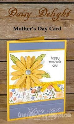 Free, complete instructions included in the post - Stampin' Up! Daisy Delight Bundle & Circle of Spring handmade Mother's Day card - Create With Christy - Christy Fulk, Independent SU! Demo