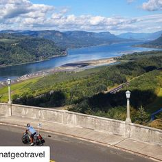 #Repost @natgeotravel with @repostapp  Photo by @tylermetcalfe | American Bike Project Day 92 | Biking down the Historic Columbia River Highway towards Portland Oregon was one of the most scenic routes I have been on since departing Washington DC. I have been through daunting mountain passes and vast open landscapes but this road tops them all. The route is lined with mossy old growth forests and provides a fun gentle route weaving up and down along the floor of the canyon. Occasionally the…