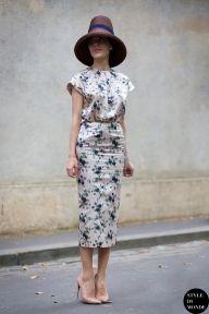 Ulyana Sergeenko wearing Rochas outfit after Dior couture show. Follow me on Instagram @styledumonde, Pinterest, Twitter, TumblrandFacebook